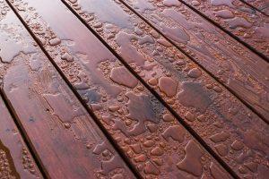 Water Beading on Freshly Sealed Deck