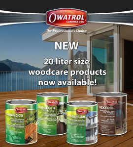 20 liter size woodcare products