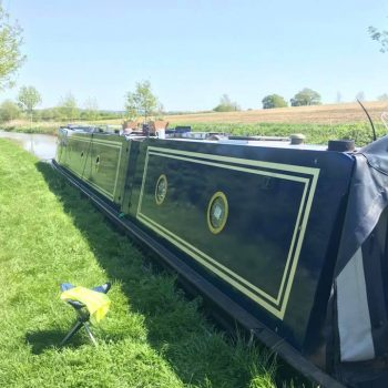 Side view of Narrowboat revived with Marine Polytrol