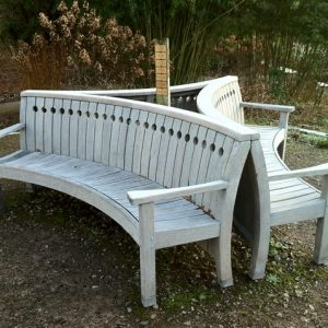 weathered grey look on a bench