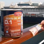 Deks Olje D1 being applied to a boat hand rail