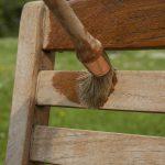 Deks Olje D1 being applied to garden furniture - ©Adfields