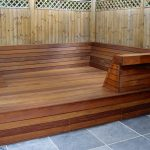 Textrol used to finish deck seating area