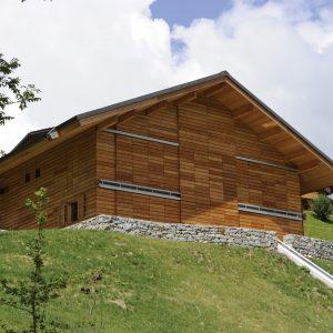 House cladding finished with Textrol - ©Jacqueline Mingard