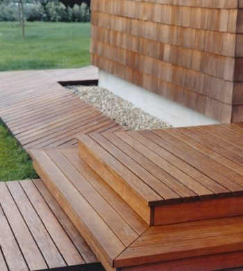 Textrol on wood deck