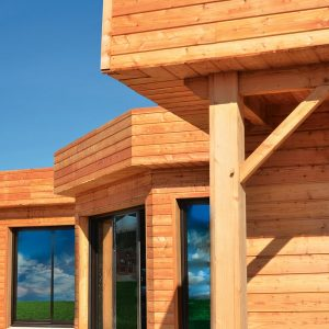 Textrol applied to wooden cladding