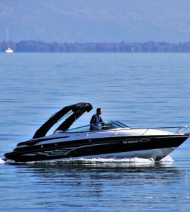 Man driving a Jet Boat
