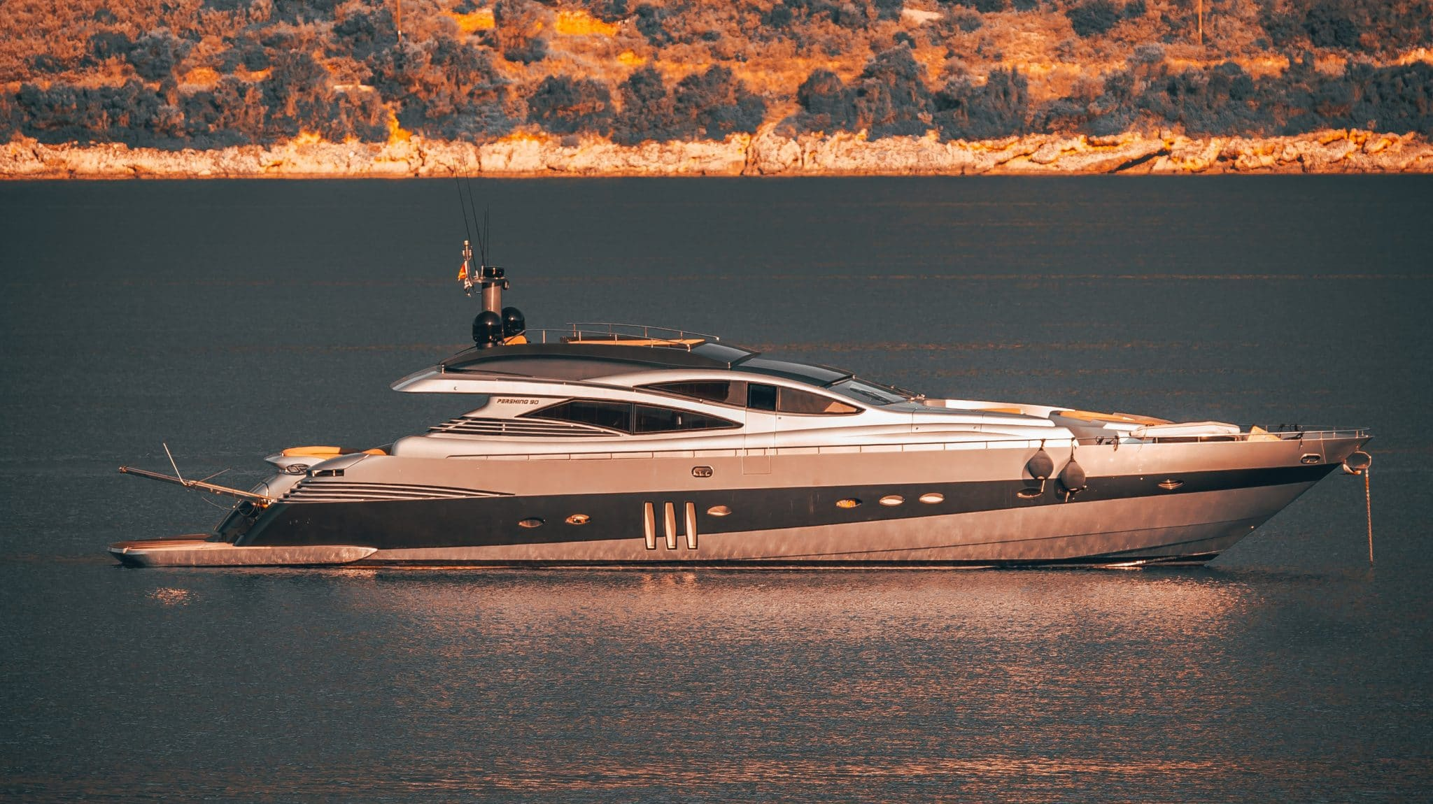 yacht on a body of water