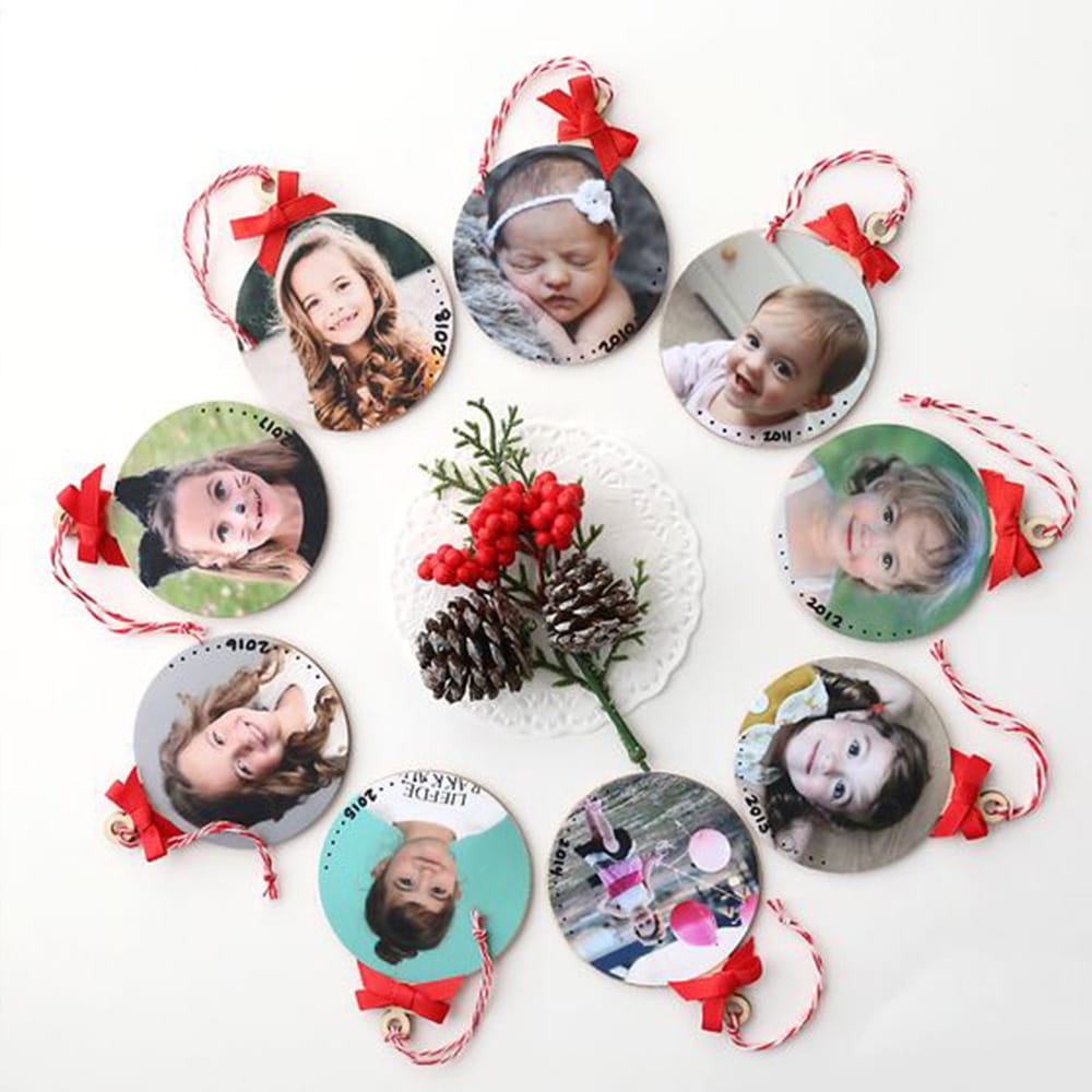 DIY portrait Christmas bauble