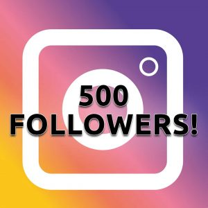 Instagram logo for 500 followers