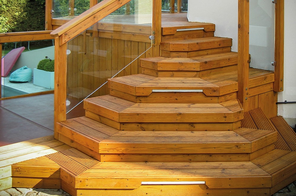 Deck with steps