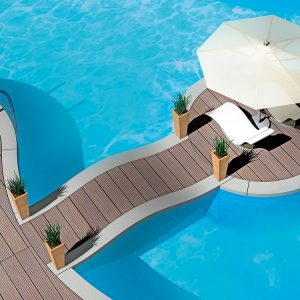 grey wood pool deck