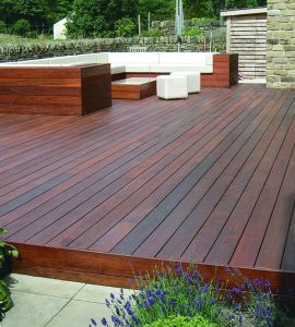 hardwood decking finished with D1 Pro