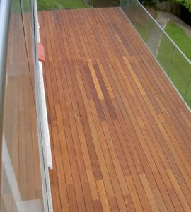 Ipe deck finished with Textrol
