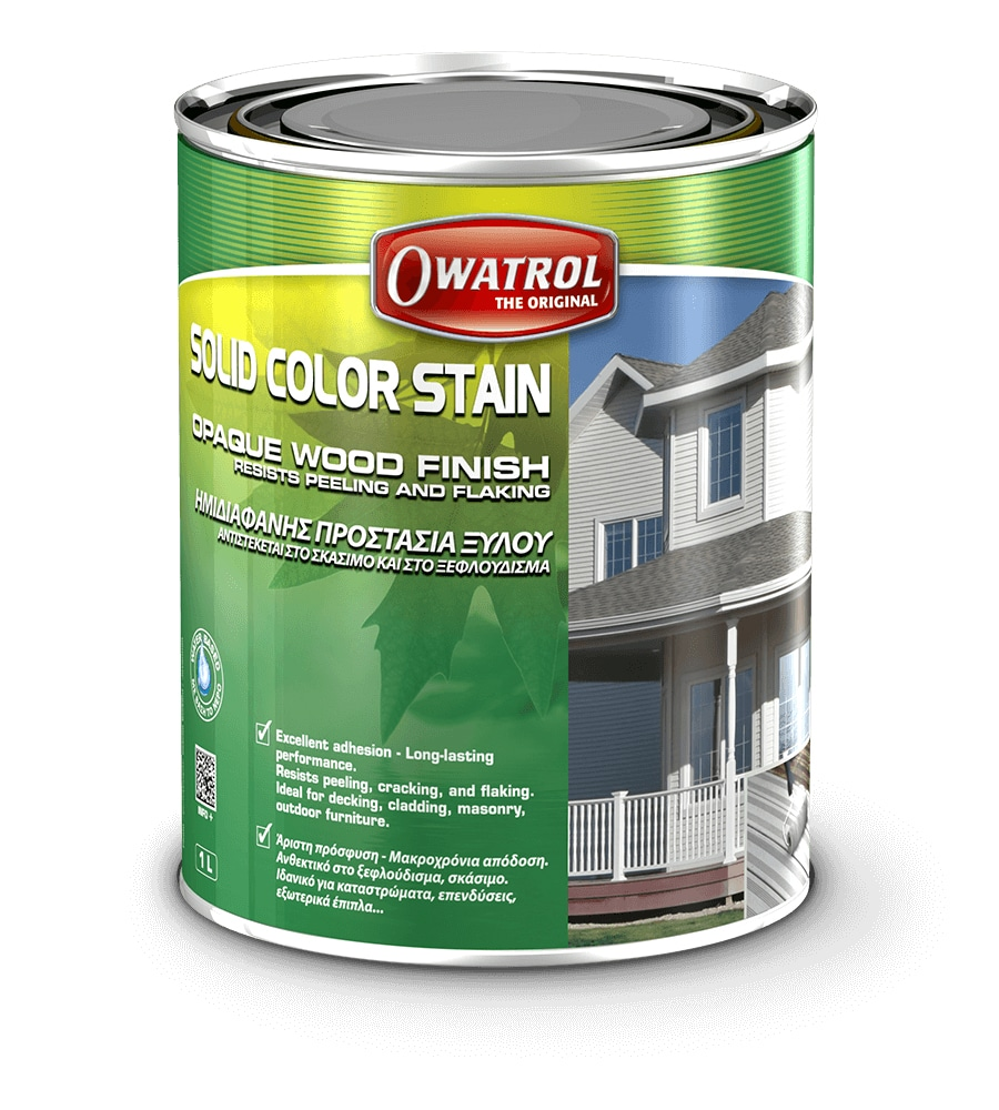Owatrol's Solid Color Stain packaging
