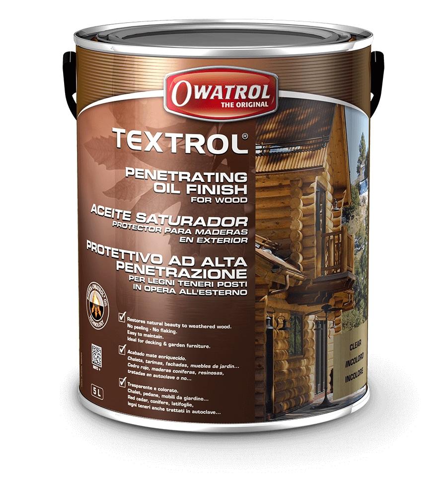Owatrol's Textrol packaging