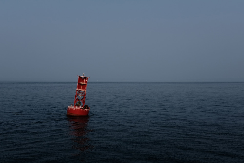 buoy out at sea