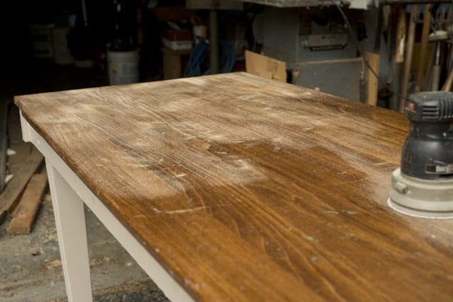 sanding out stain