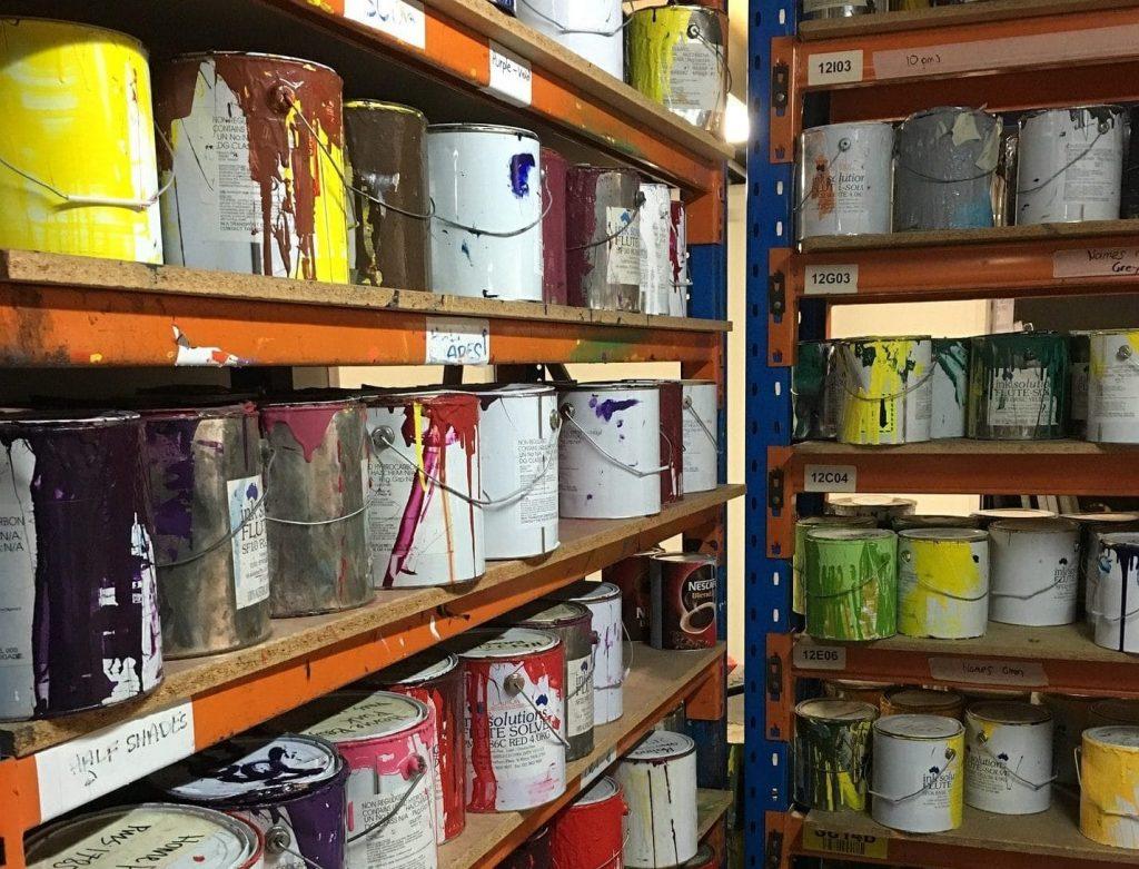 storing paint