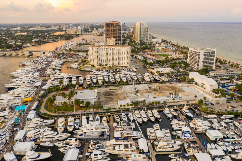 Aerial photo Fort Lauderdale boat show