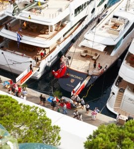 Boat show exhibition