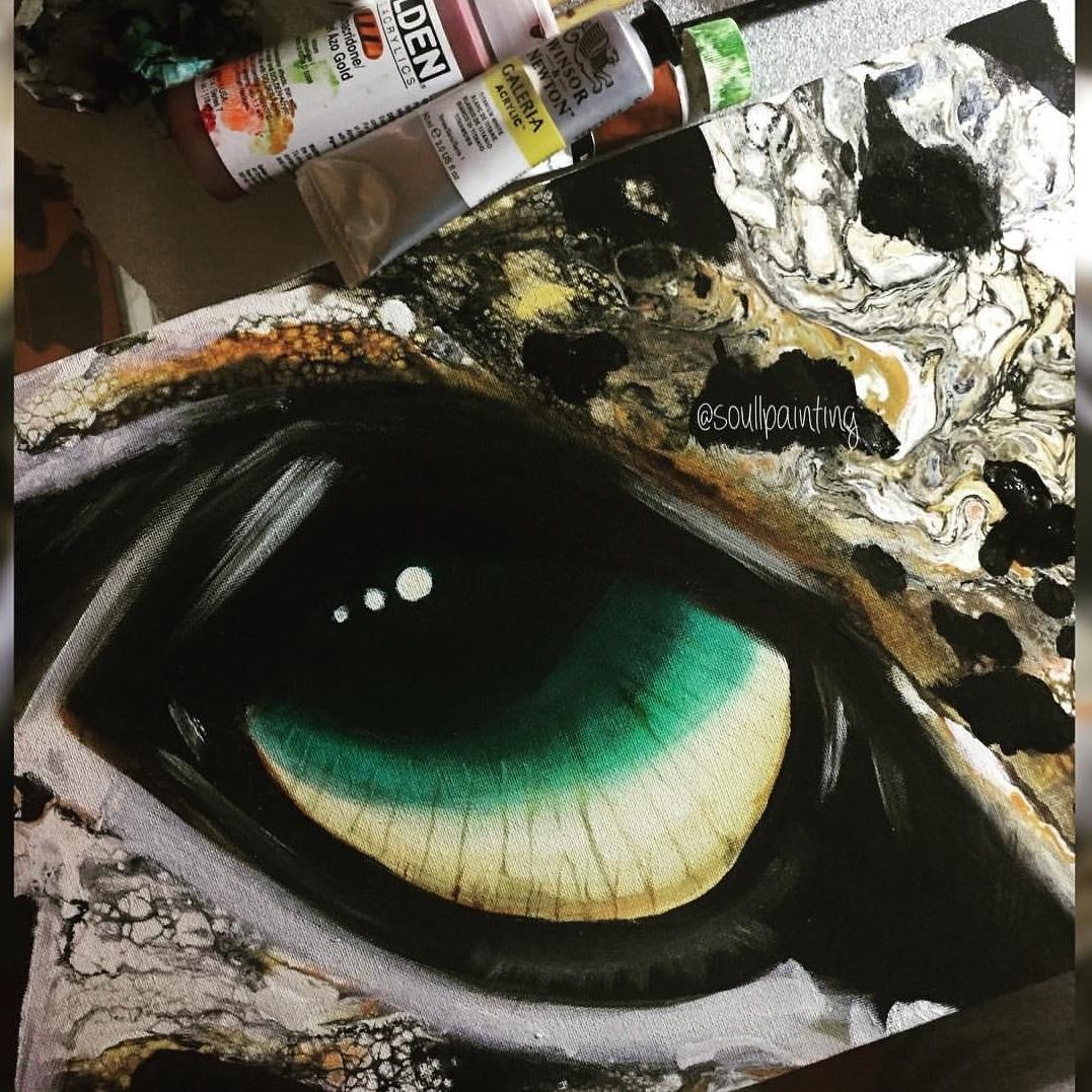 Mix media painting by Jasvir