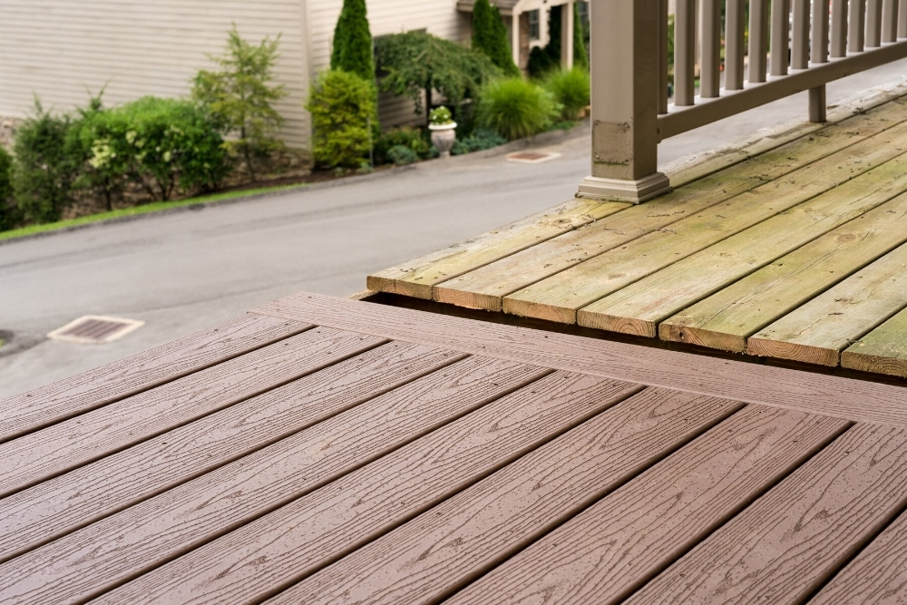 composite wood vs timber decking