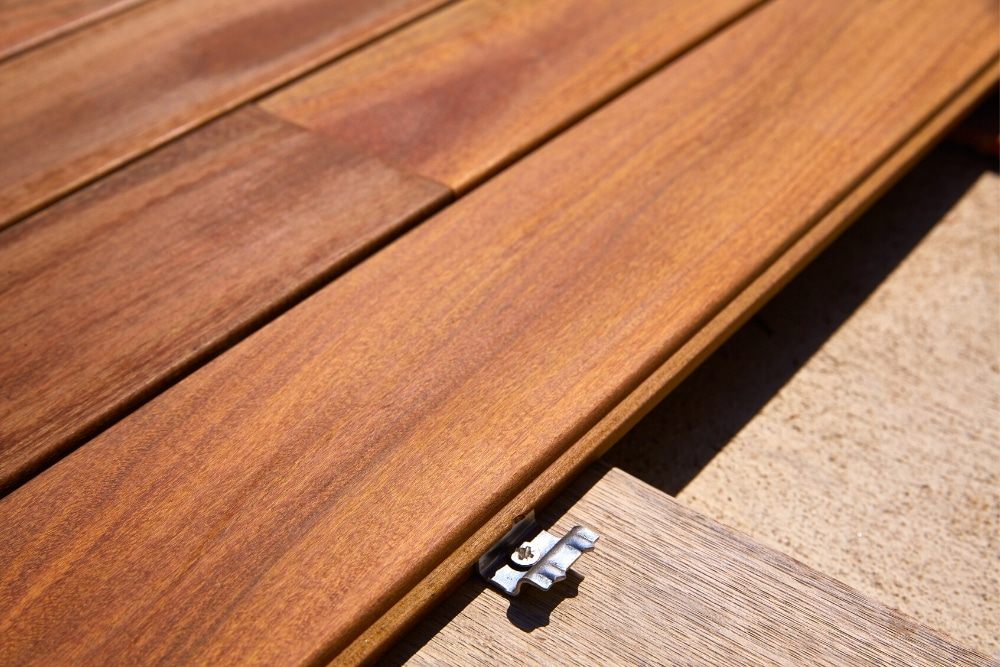 Hidden fasteners on composite decking