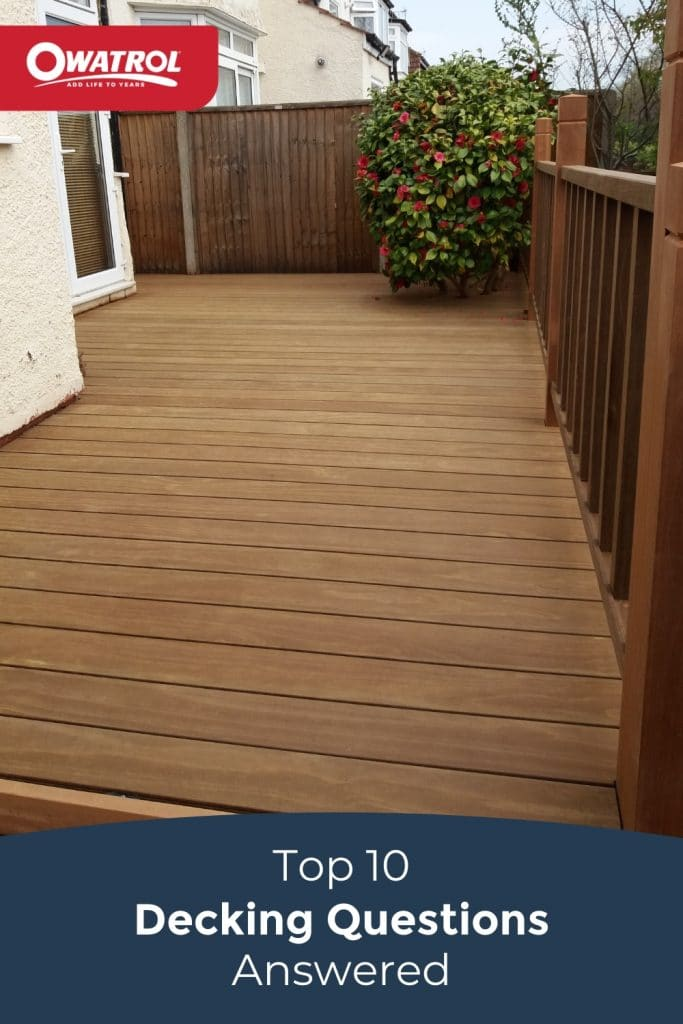 Top 10 Decking Questions answered - Pinterest