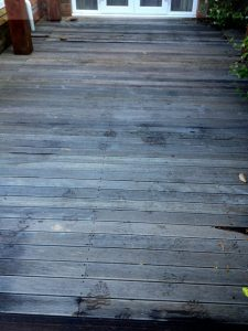 Deck before application of Textrol