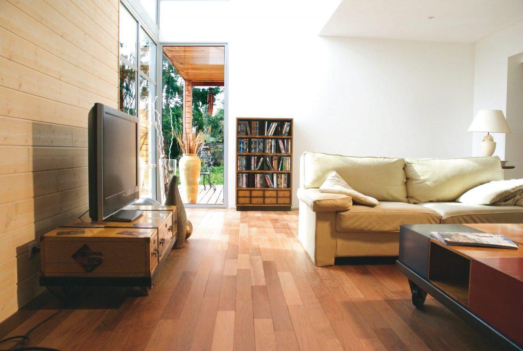 Oleofloor applied to wood flooring