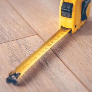 Retracted tape measure