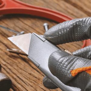 Open utility knife