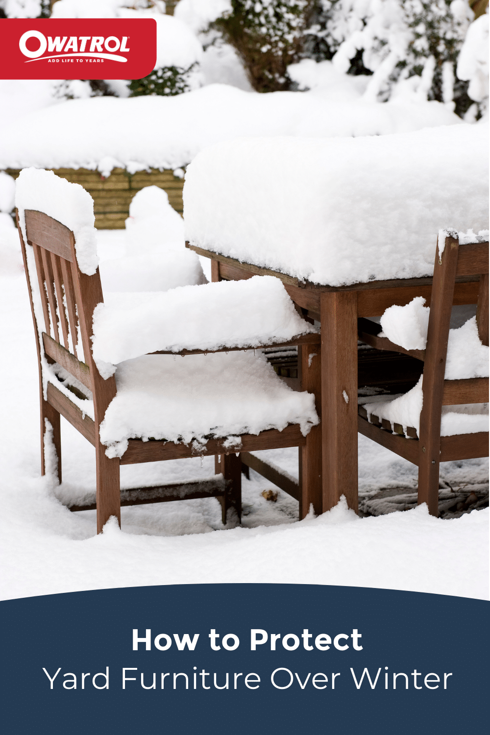 protect yard furniture over winter - Pinterest