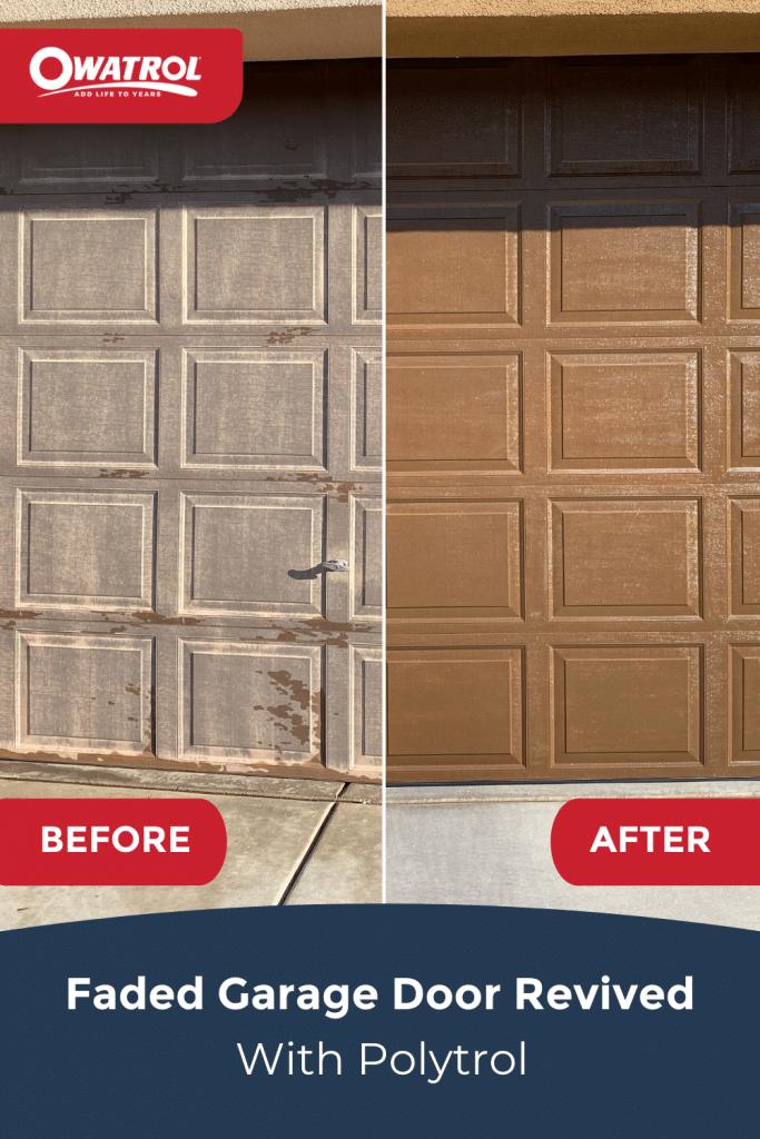Faded garage door revived with Polytrol - Pinterest