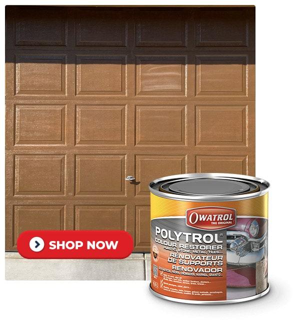 Polytrol on a garage door