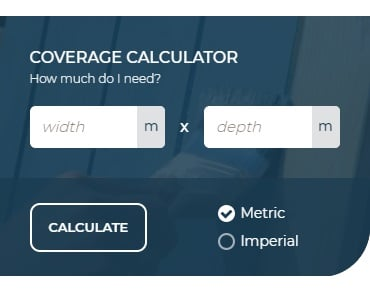 Coverage calculator for illustrative purposes only